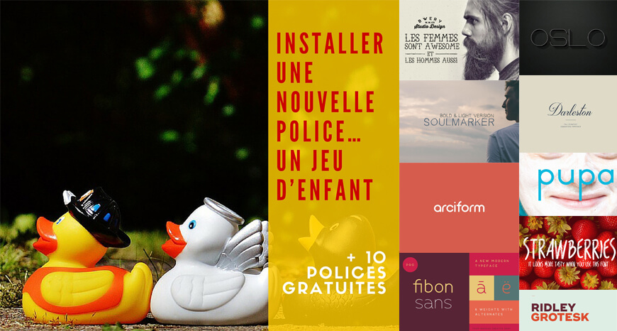installer une nouvelle police